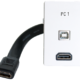 Input panel: HDMI+USB-B,PC1,1½ Polar white, DK